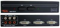 1080p 2 X 1 DVI Switcher with Coax or Stereo Audio