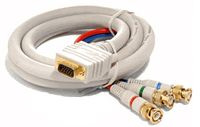 1080p VGA to 3 BNC Component Video Breakout Cable