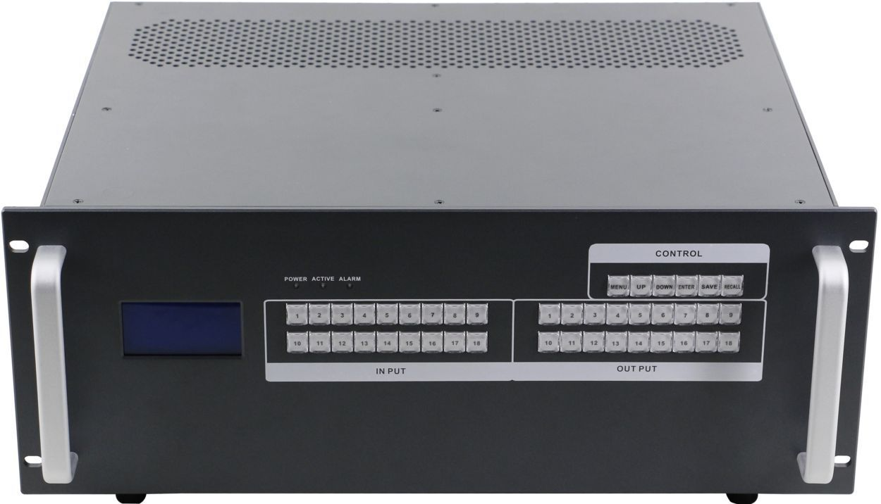 16x16 Matrix HDBaseT Router w/16-HDBaseT Receivers & iPad/Android App