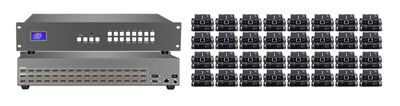 16x32 HDMI Matrix Switch with 32-Separate HDMI to CAT5 Baluns & Tablet Control