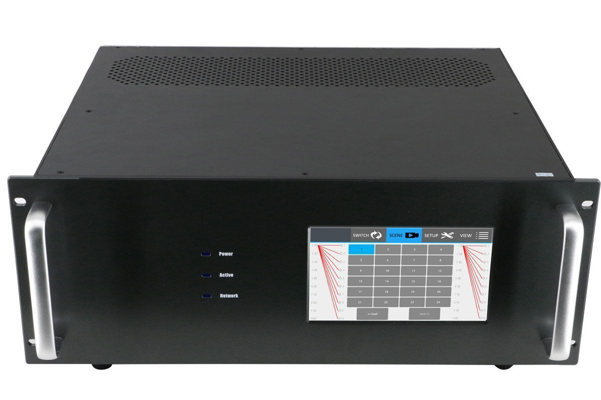 4K 16x5 HDMI Matrix Switcher with Color Touchscreen