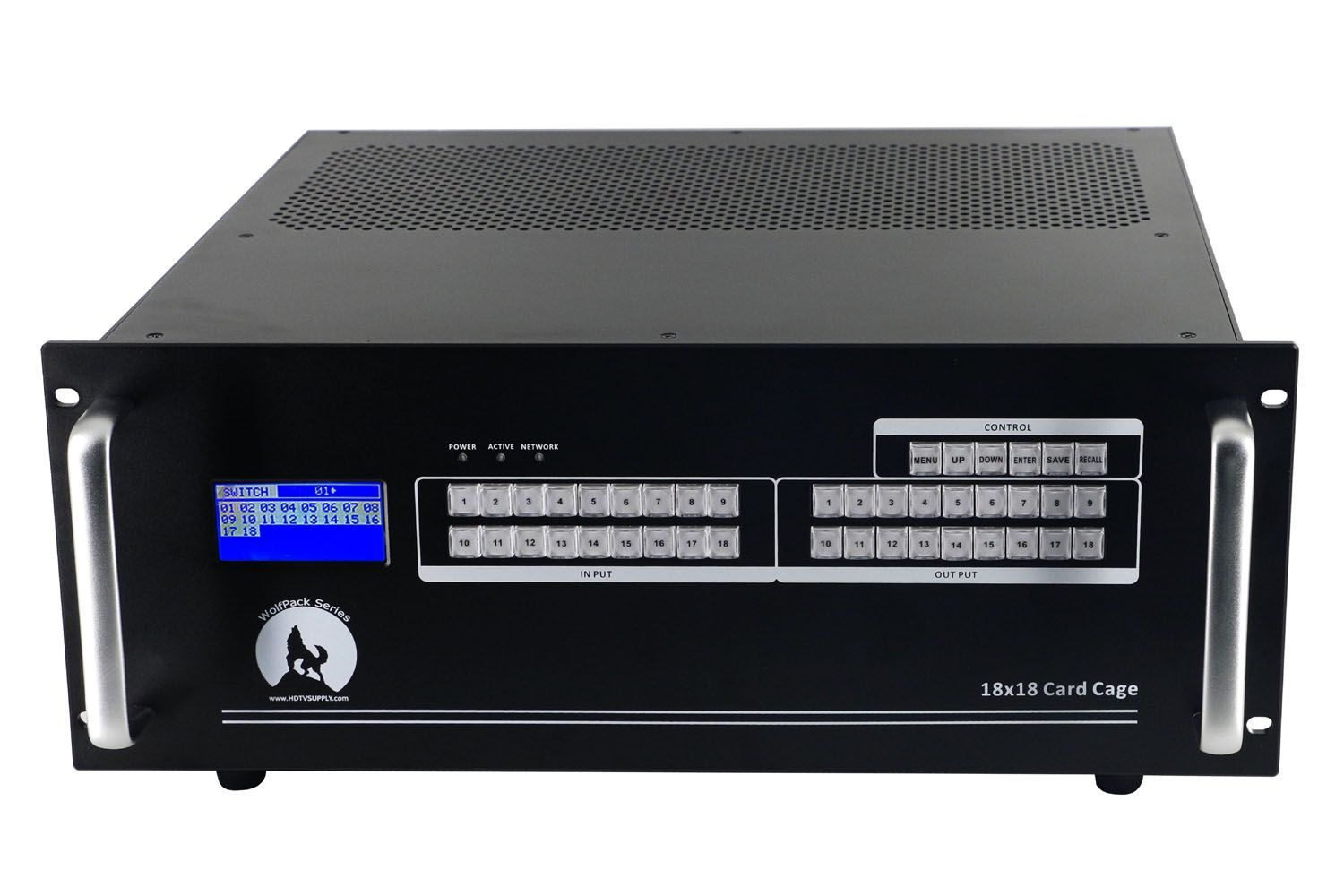Fast 18x18 HDMI Matrix Switch w/Apps, WEB GUI, Video Wall, Separate Audio & Scaling