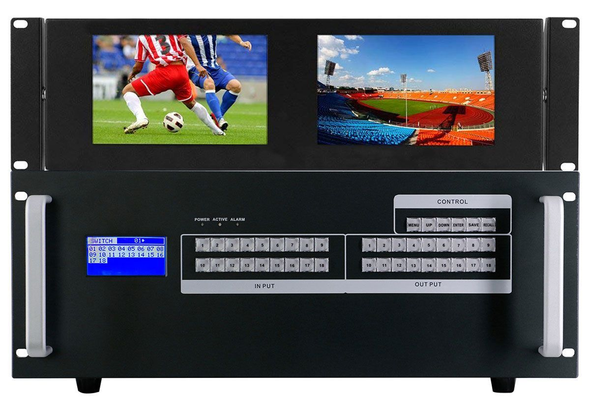 Build Your Own 4K Modular HDMI Matrix Switcher with Touch Screen Using a 18x18 Chassis