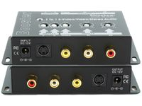 Shinybow SB-2810 1x1 S-Video/Video/Stereo Audio Booster - TAA Compliant