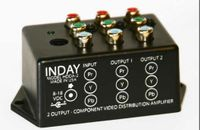 1X2 Component Video Splitter w/High Current Amps