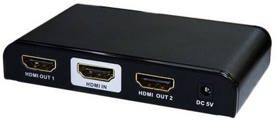 4K60 1x2 HDMI Splitter with EDID & Built-in Booster