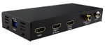 WolfPack 1x2 HDMI Splitter Scaler - Simultaneous 4K & 1080p Outputs w/EDID