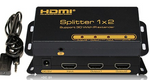 1x2 HDMI Splitter with Remote IR