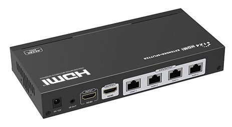 WolfPack 4K60 1X4 HDMI Splitter Over Single CAT6 Cables to 100 Feet