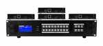 4K 1x4 HDMI HDBaseT Splitter w/4-HDBaseT Receivers & Output Control to <i>330'</i>