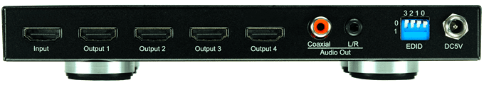 WolfPack 4K 1x4 HDMI Splitter w/Separate Audio Outs & 16-Mode EDID