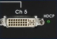 1X5 DVI Splitter - HDCP compliant on all 5-outputs