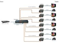 WolfPack 1x8 HDMI Splitter over CAT5 to 145 feet