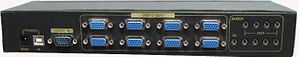 1X8 VGA Splitter with Audio - 2048 x 1536 resolution to 100M