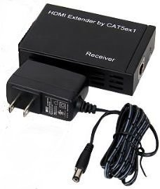 1x9 HDMI Splitter Over CAT5 to 300 Feet with IR Control