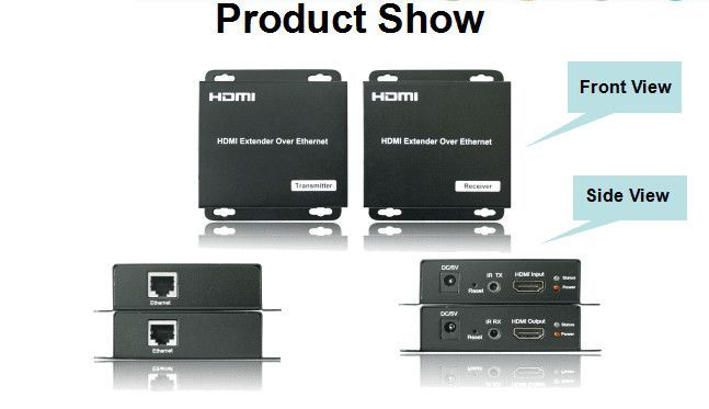 1x9 Network HDMI Splitter with Remote IR