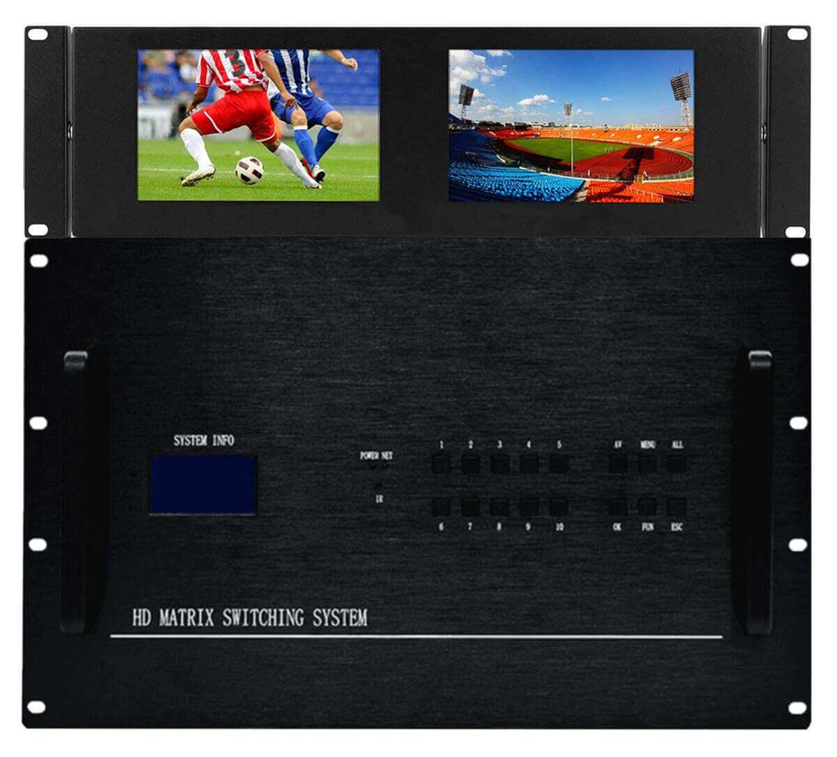 4K 28x8 HDMI Matrix HDBaseT Switch with 8-CAT5 Extenders