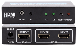 4K 60Hz HDCP 2.2 rated 2 X 1 HDMI Switcher
