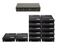 2x10 Network HDMI Matrix Switcher with WEB GUI & Remote IR