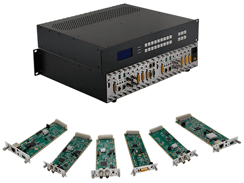 2x4 DVI Matrix Switcher with In & Out Scaling