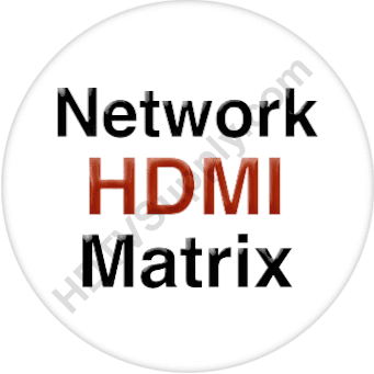 2x4 Wallplate HDMI Matrix Switch Over IP with POE