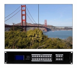 2x6 HDMI Matrix Switcher w/ Video Wall, Scaling, Separate Audio, Apps & 100ms Switching