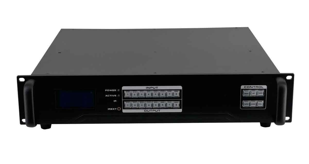 2x8 HDMI Matrix Switcher w/ Video Wall, Scaling, Separate Audio, Apps & 100ms Switching