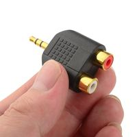 3.5mm Stereo Male to 2-RCA Female Adapter