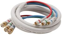 6 Foot 3 BNC to 3 RCA Component Video Cable - 1080p Rated