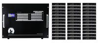 36x36 HDMI Matrix Switcher over CAT5 w/36-HDBaseT Receivers, Separate Audio & 100ms Switching