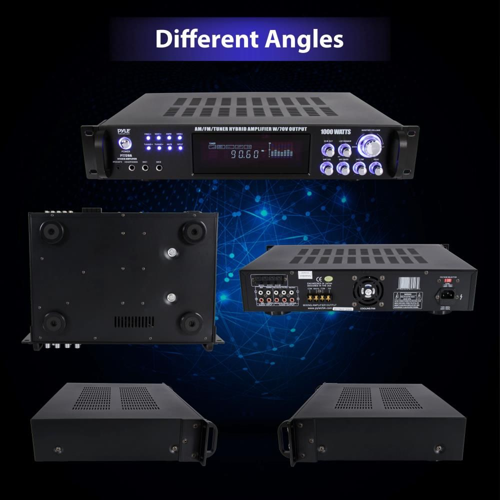 WolfPack 4-Channel Amp with Mic Input