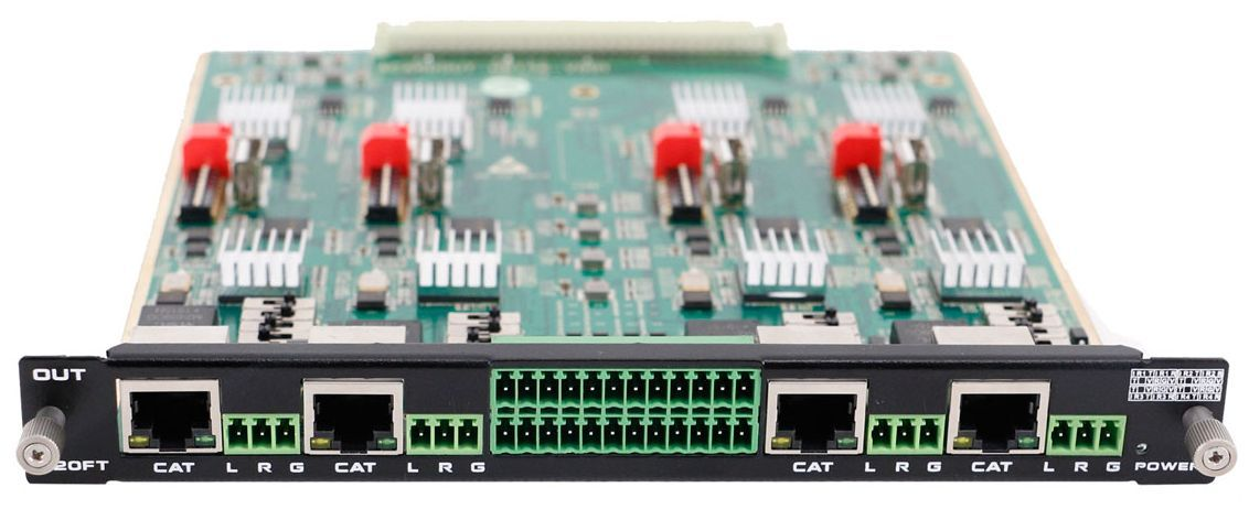 4-Port HDBaseT Output Card for 16x16 Chassis