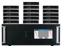 4K 10x16 HDMI Matrix Switcher w/Touch Screen & HDMI over CAT5 Extenders
