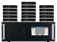 4K 12x16 HDMI Matrix Switcher w/Touch Screen & HDMI over CAT5 Extenders