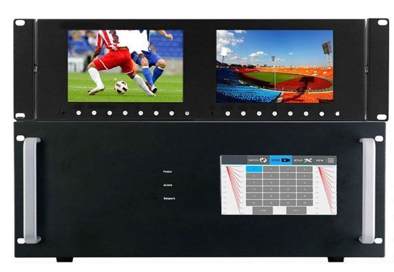 WolfPack 4K 16x16 HDMI Matrix Switcher w/Dual Monitors Announced by HDTV Supply, Inc.