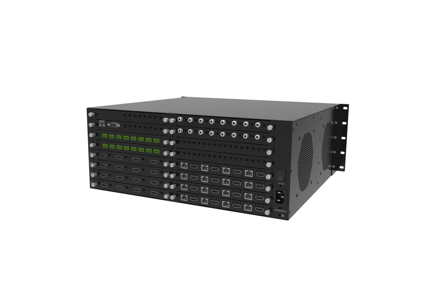 4K 60 16x16x2 HDMI Video Matrix Switcher over HDBaseT CAT5