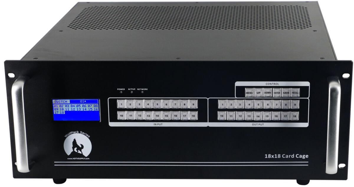 4K 18x24 HDMI Matrix Splitter with Dual HDMI Outputs