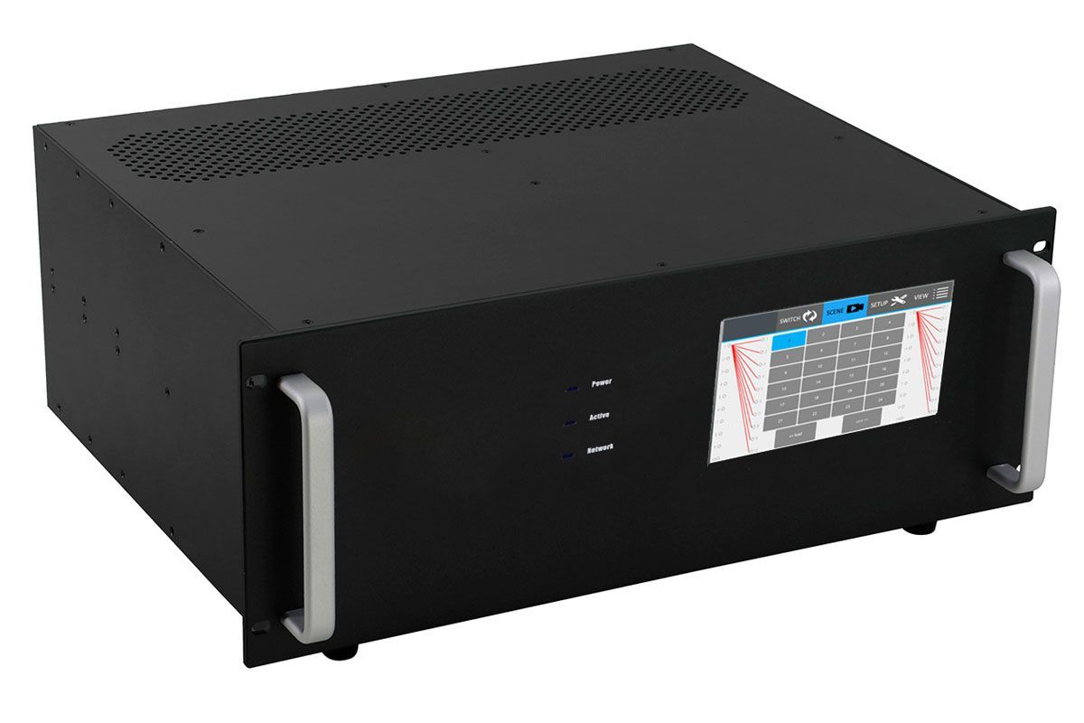 4K 1x12 HDMI HDBaseT Splitter w/12-HDBaseT Receivers & Out Control to <i>330'</i>
