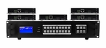 4K 1x5 HDBaseT Splitter w/5-HDBaseT Receivers & Output Control to <i>220'</i>