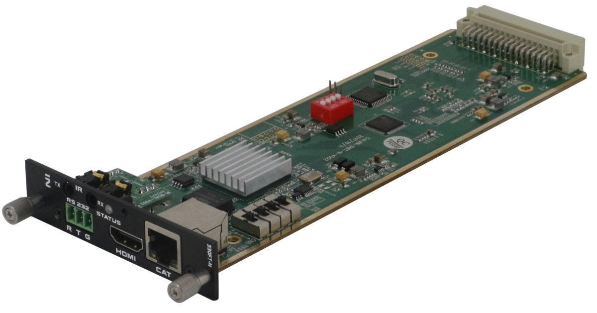 4K/30 HDBaseT Input Card to 110' & 1080p to 220' w/HDMI Loopout
