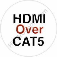 4K 4x10 HDMI Matrix Switcher w/Touch Screen & HDMI over CAT5 Extenders
