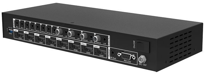 4K/60 4x4 HDMI Matrix Switcher with Separate Audio