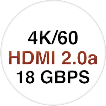 4K/60 1x4 HDMI Splitter with EDID