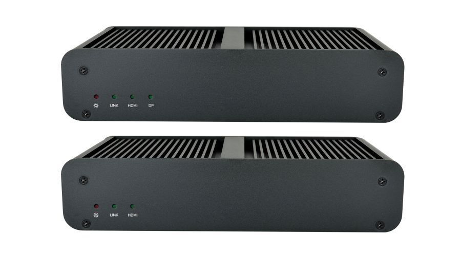4K 60 4x8 SDVoE HDMI Matrix Switch Over LAN with Video Wall