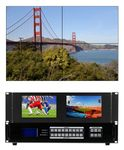 4K/60 (4:4:4) HDMI Matrix Switchers w/Videowall Processor in 9x9 Chassis (49)