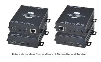 4K 60Hz 4:4:4 HDMI & IR/RS232 CAT6 Extender w/3-HDMI Loopouts