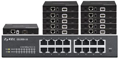 4K HDMI over IP Splitters to 23-TVs & More