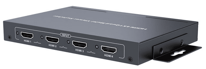 4X1 Quad-split HDMI Multiviewer Switcher