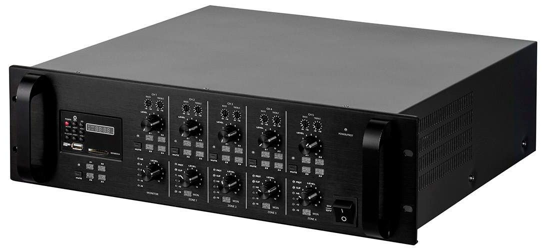 WolfPack 4x120W Amp Mixer Matrix Switch with SDI Card Slot for Recording