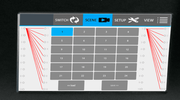 4K 4x16 HDMI Matrix Switcher with Color Touchscreen